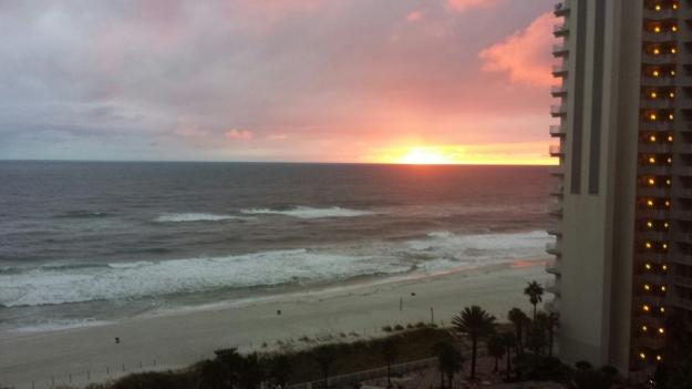 sunset the night prior